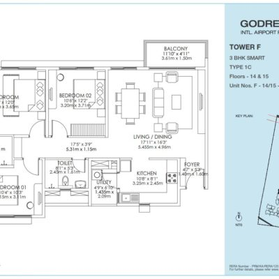 godrej-aqua-2-bhk-apartment-plan
